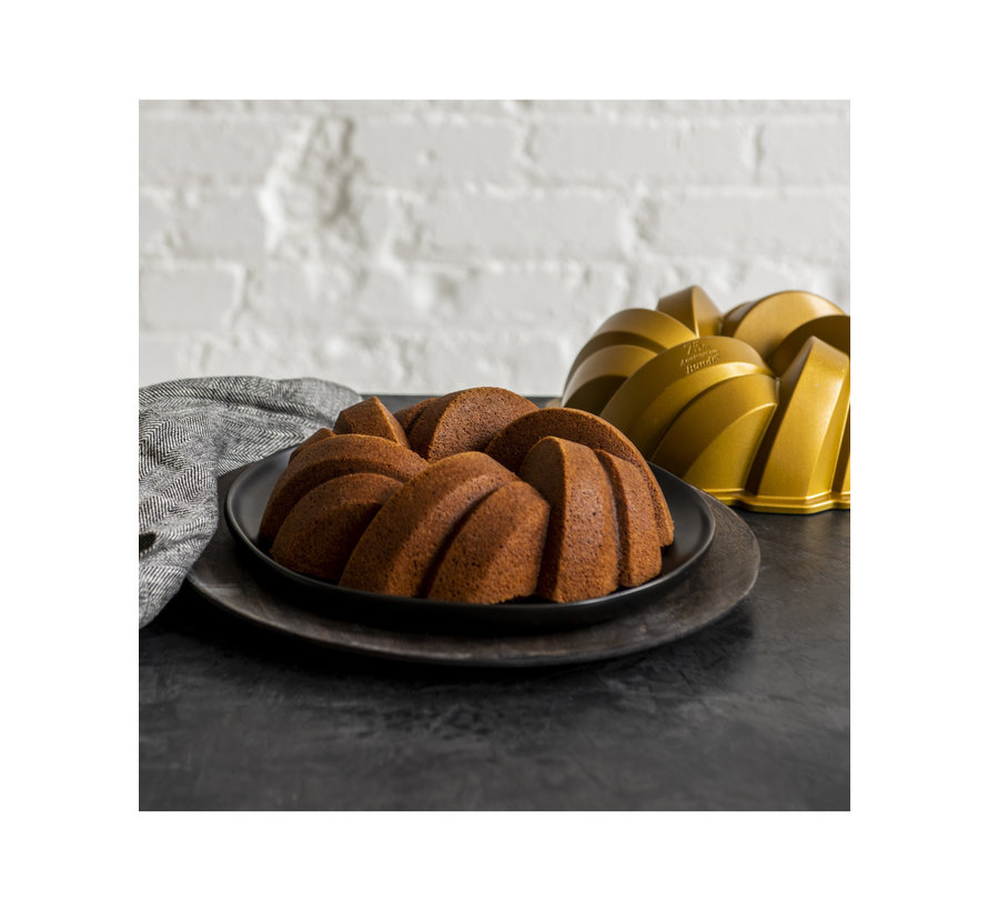 Braided Bundt Pan Gold 12-cup