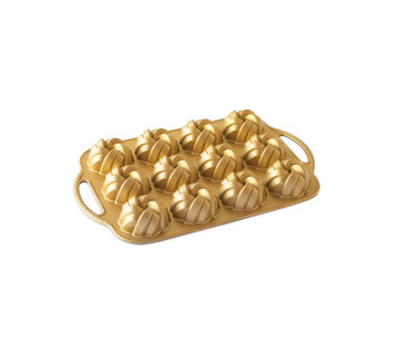 Nordic Ware Braided Mini Bundt Pan Gold 3.5-cup