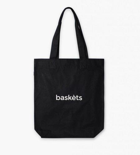 Baskèts Baskèts Heavy Canvas Tote Bag Black