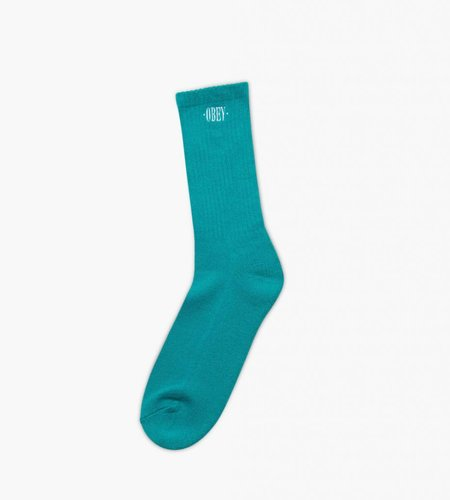 Obey Obey New Times Embroidery Socks Teal White
