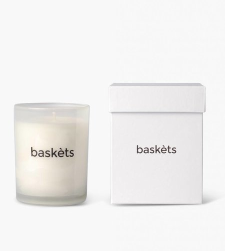 Baskèts Baskets Scented Candle White Patchouilly