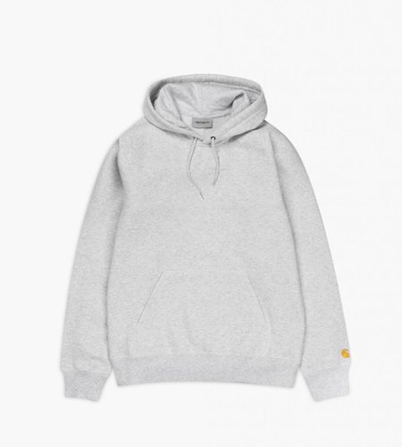 Carhartt Carhartt Hooded Chase Sweat Ash Heather Gold