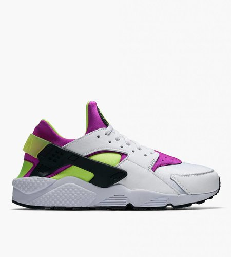 Nike Nike Air Huarache Run '91 QS White Black Neon Yellow Magenta