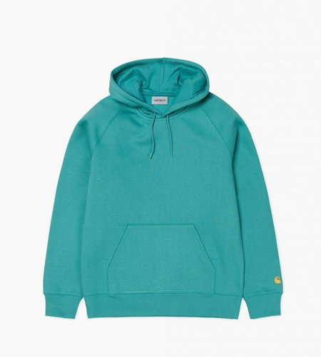 Carhartt Carhartt Hooded Chase Sweat Soft Teal Gold