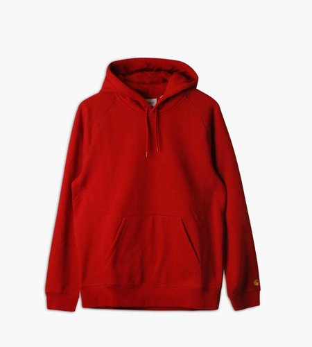 Carhartt Carhartt Hooded Chase Sweat Blast Red Gold