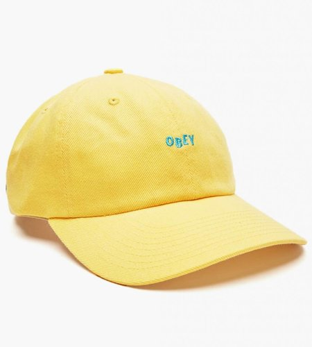 Obey Obey Cutty 6 Panel Snapback Pale Yellow