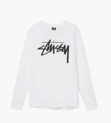 Stussy Stussy Old Stock LS Tee White