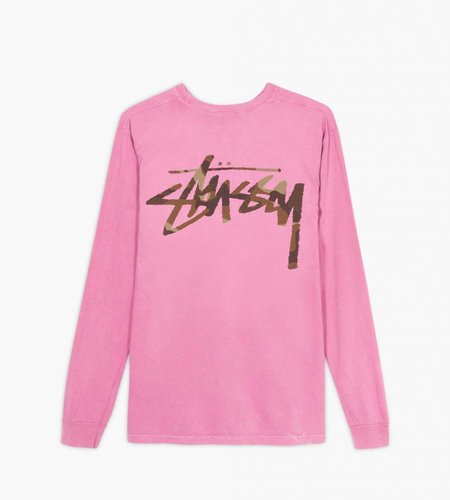 Stussy Stussy Camo Stock Pkt LS Tee Pink