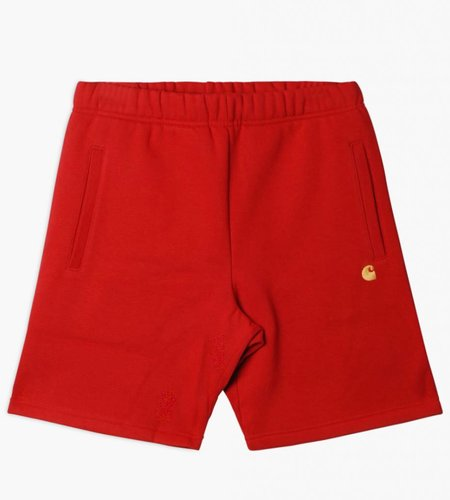 Carhartt Carhartt Chase Sweat Short Blast Red Gold