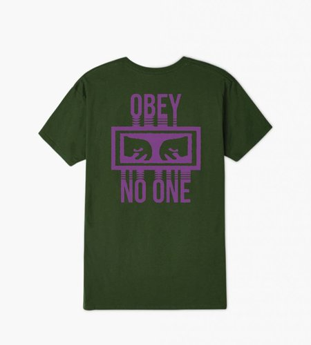 Obey Obey No One Forest Green Tee