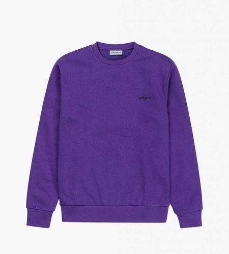 Carhartt Carhartt Script Embroidery Sweat Frosted Viola