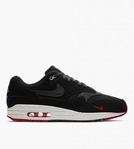 Nike Nike Air Max 1 Premium Black Oil Gray University Red Sail