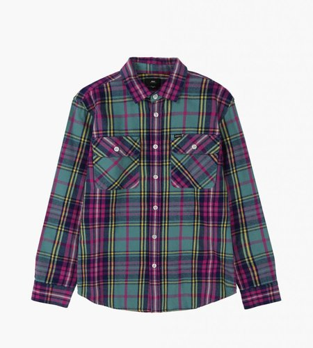 Obey Obey Nelson Woven Shirt Light Sage Multi