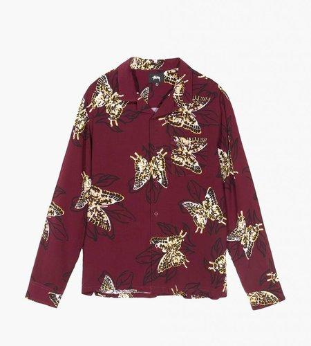 Stussy Stussy Butterfly LS Shirt Burgundy