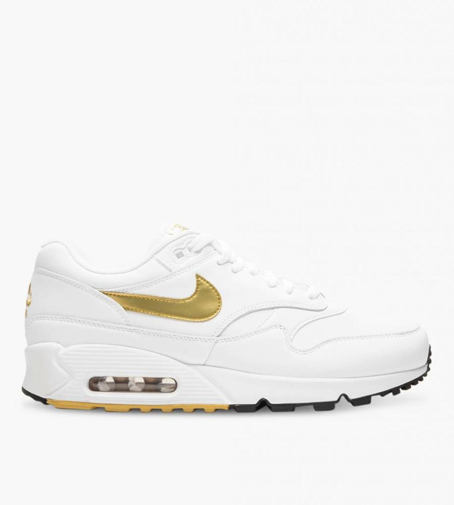 competitive price 0a134 11595 low cost nike nike air max 90 1 white metallic gold black a0180 87633