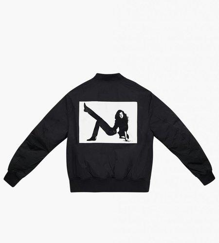 Calvin Klein Calvin Klein EST. 1987 AOP Icon On Back Bomber Black