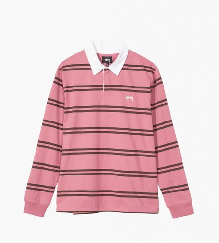 Stussy Stussy Desmond Stripe LS Rugby Pink