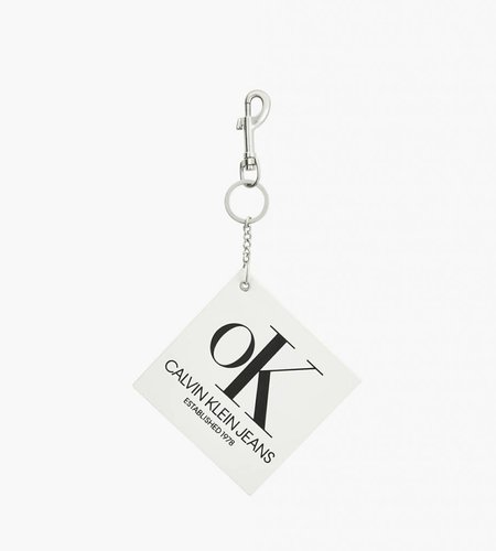 Calvin Klein Calvin Klein Modernist Graphic Key Chain OK Logo