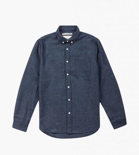 Native North Native North Wool Herringbone Shirt Navy Melange