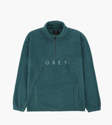 Obey Obey Mountain Mock Zip Sweater Dark Teal