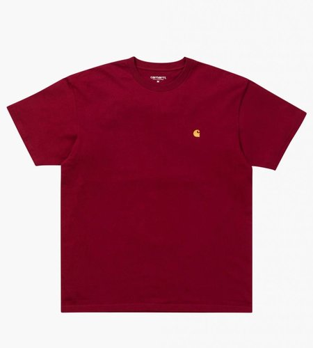 Carhartt Carhartt Chase T-Shirt Combed Mulberry Gold