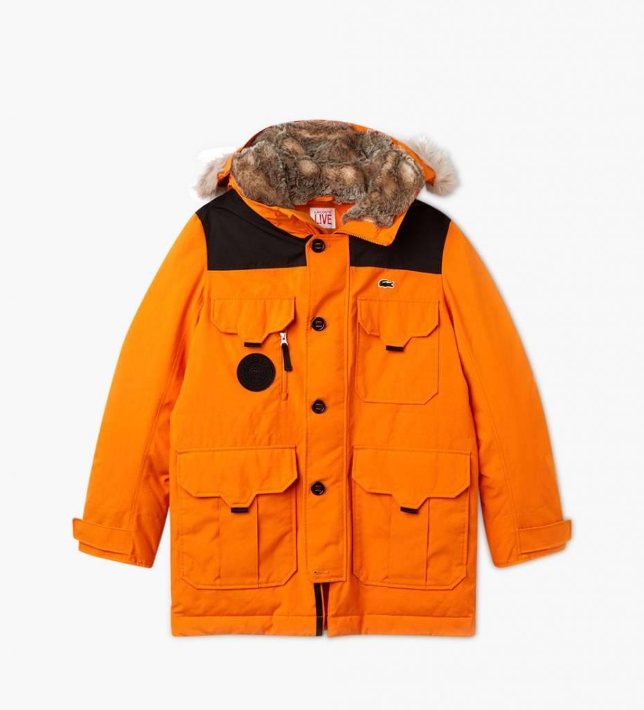 050c02fcef Lacoste Live 1HB1 Men Jacket 09A Orange Black - Baskèts Stores Amsterdam