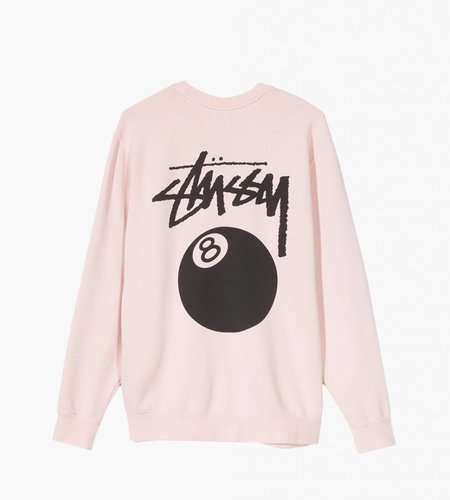 Stussy Stussy 8 Ball Pig Dyed Crew Pink