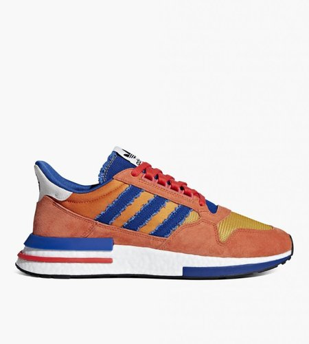 "Adidas Dragon Ball Z x adidas ZX 500 RM ""Goku"" Orange Collegiate Royal Hi-Res Red"