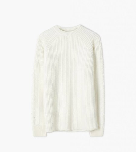 Filippa K Filippa K M. Wool Cable Knit Sweater Cream