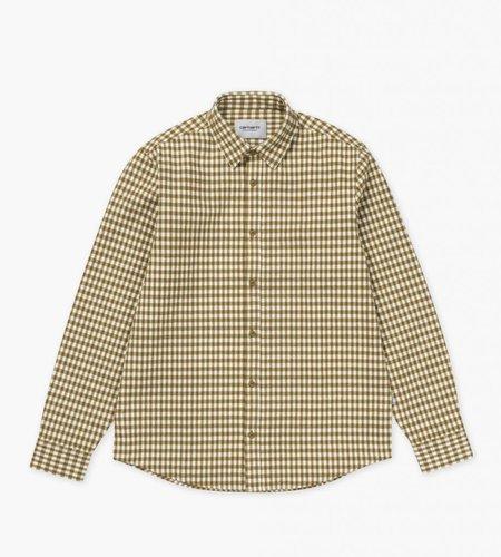 Carhartt Carhartt L/S Stawell Shirt Check Hamilton Brown