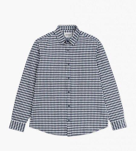 Carhartt Carhartt L/S Stawell Shirt Check Metro Blue White