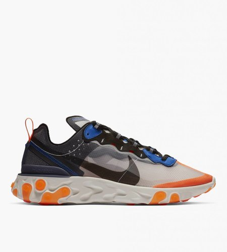 Nike Nike React Element 87 Wolf Grey Black Thunder Blue