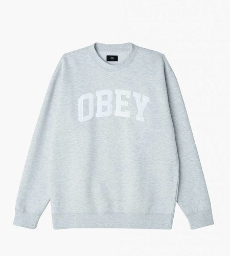 Obey Obey Collegiate Crew Ash Grey