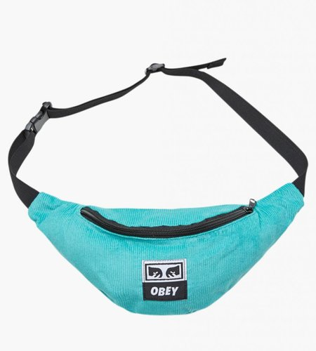 Obey Obey Wasted Hip Bag Black Teal Cord