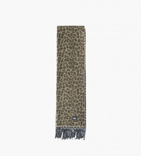 Stussy Stussy Double Faced Wool Scarf Brown