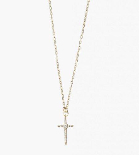 Golia Golia Diamond Dagger Cross Necklace