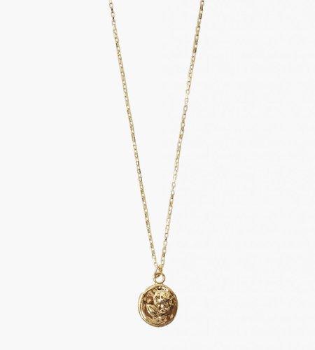 Golia Golia Vintage Rose Coin Necklace