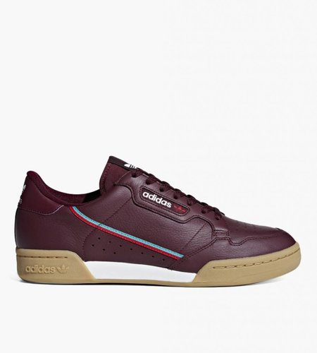 Adidas Adidas Continental 80 Collegiate Burgundy Scarlet Hi-Res Aqua