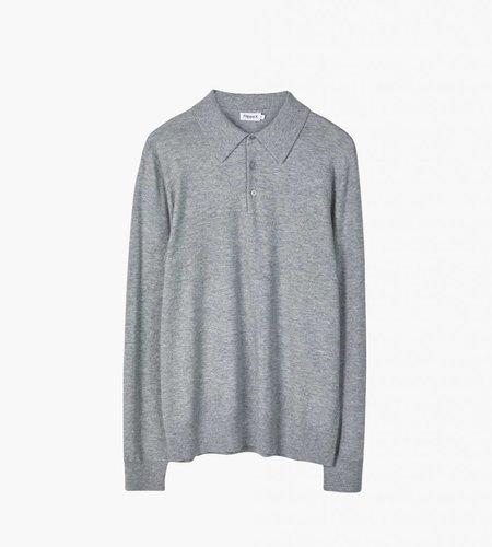 Filippa K Filippa K M. Knitted Polo Shirt Light Gray