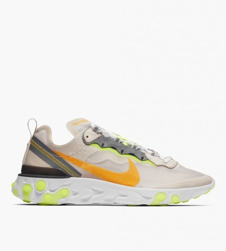 Nike Nike React Element 87 Light Orewood Brown Laser Orange Volt Glow