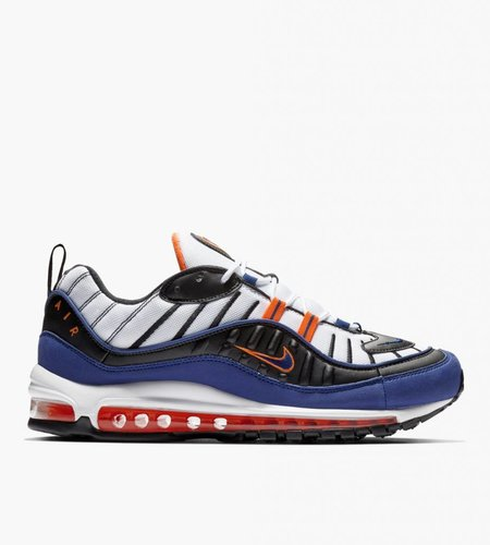 Nike Nike Air Max 98 White Deep Royal Blue Total Orange Black