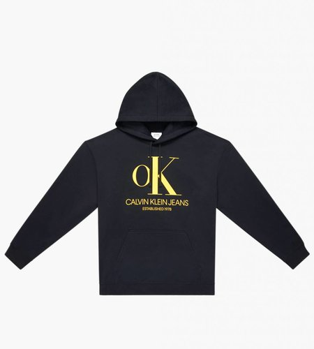 Calvin Klein Calvin Klein Est. 1978 Ok Logo Hoodie Black Yellow