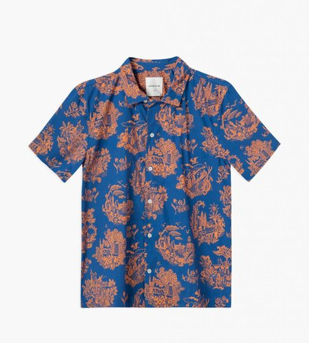 Wood Wood Wood Wood Brandon Shirt Tourist Blue