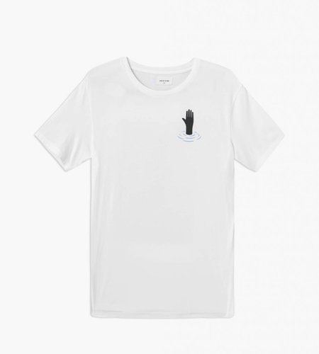 Wood Wood Wood Wood Hand T-shirt Bright White