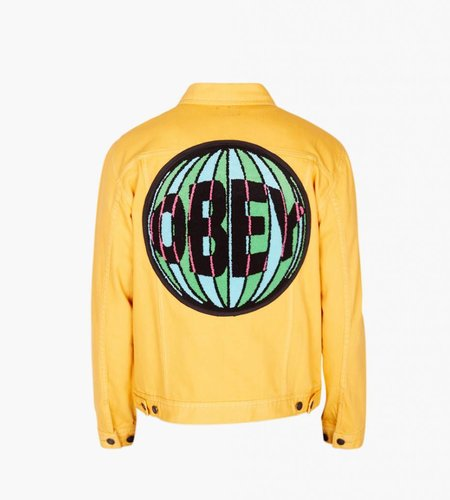 Obey Obey New Reality Denim Jacket Energy Yellow