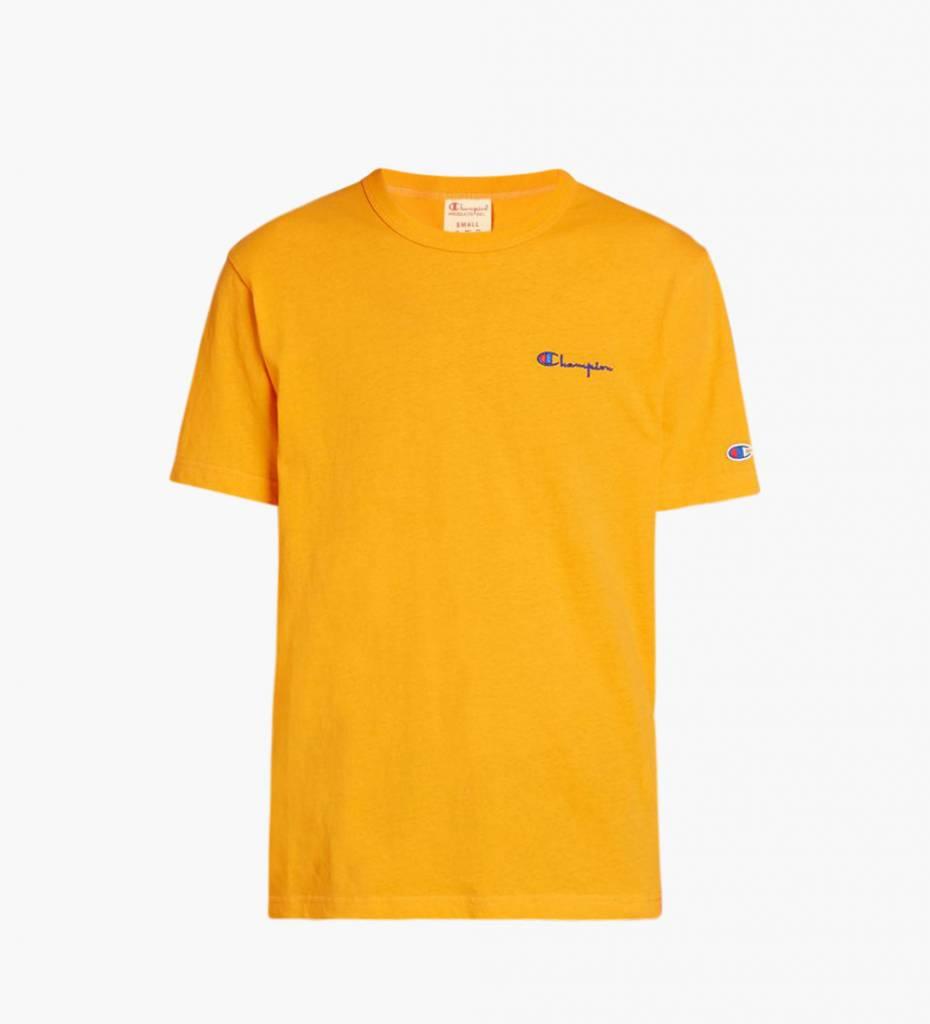 71cee0ed5 Champion Small Script Logo T-Shirt Yellow - Baskèts Stores Amsterdam
