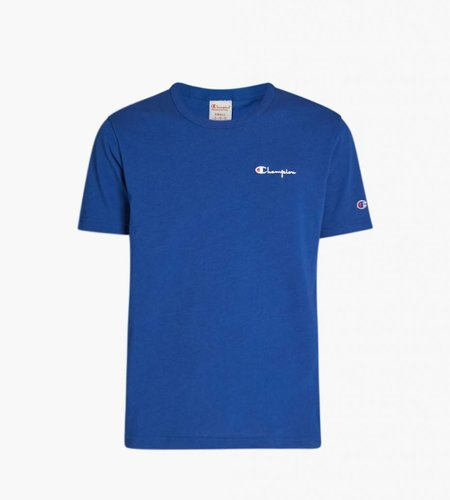 Champion Small Script Logo T-Shirt Blue