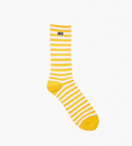 Obey Obey Dale Socks II Energy Yellow White