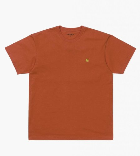 Carhartt Carhartt S/S Chase T-Shirt Combed Pepper Gold