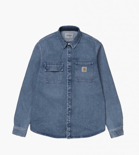 Carhartt Carhartt Salinac Shirt Jac Blue Light Stone Washed